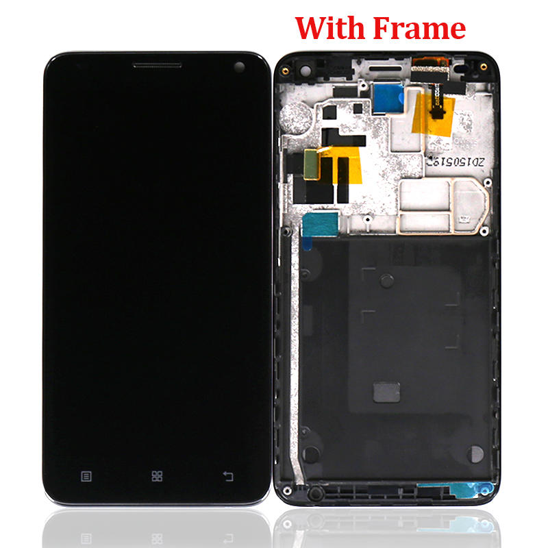 LCD Screen Display Touch Glass Panel Digitizer With Frame Accessories Replacement For Lenovo S580
