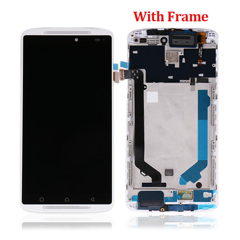 LCD Display Touch Screen Digitizer Assembly With Frame For Lenovo K4 Note Vibe X3 Lite A7010 A7010a48