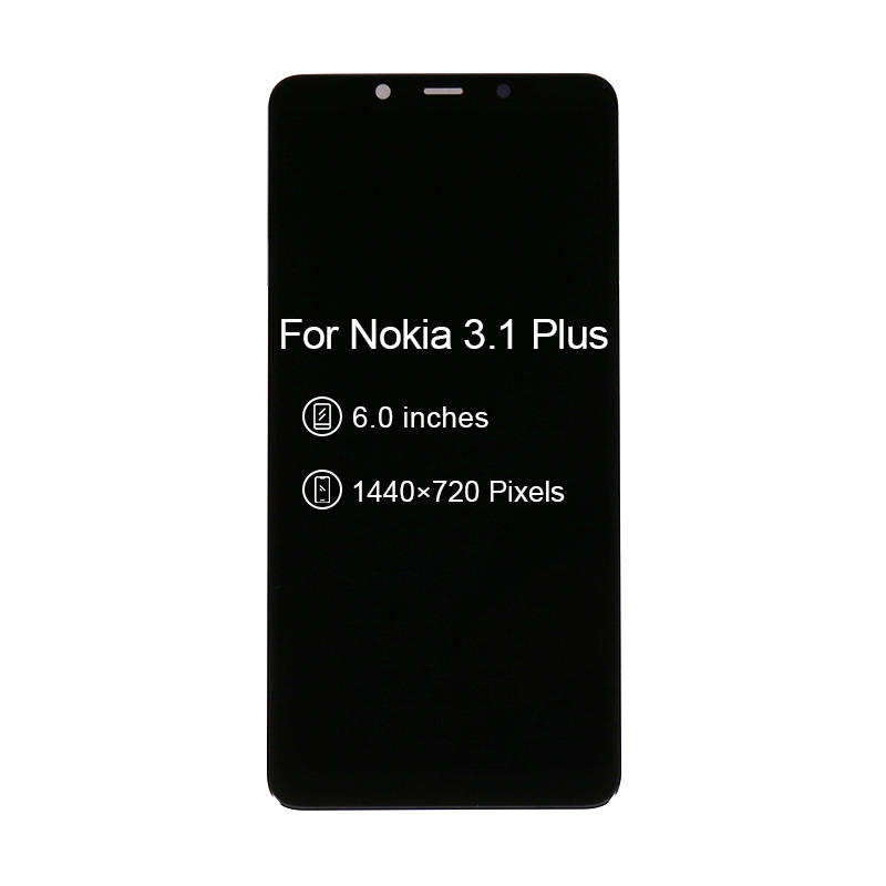 Mobile Spare Parts LCD Touch Screen Display Digitizer Assembly For Nokia 3.1 Plus